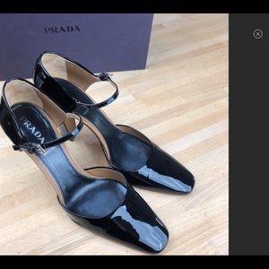 Prada Black Patent D'Orsay Mary Janes